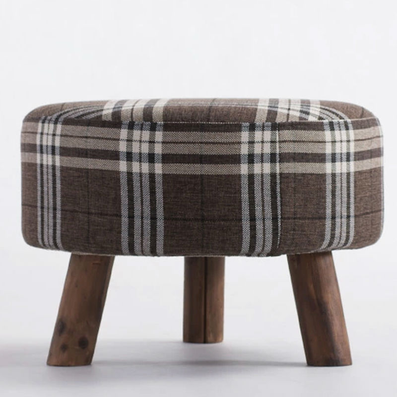 Round Fabric Ottoman Sofa Stool Footstool Footrest Home