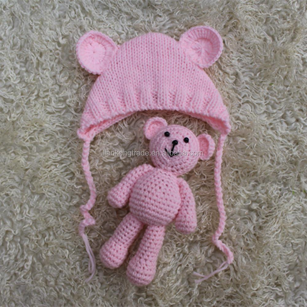 Crochet bébé ours bonnet, ensemble bonnet de bébé ours, ours nouveau-né  ensemble, ... 68fab564310