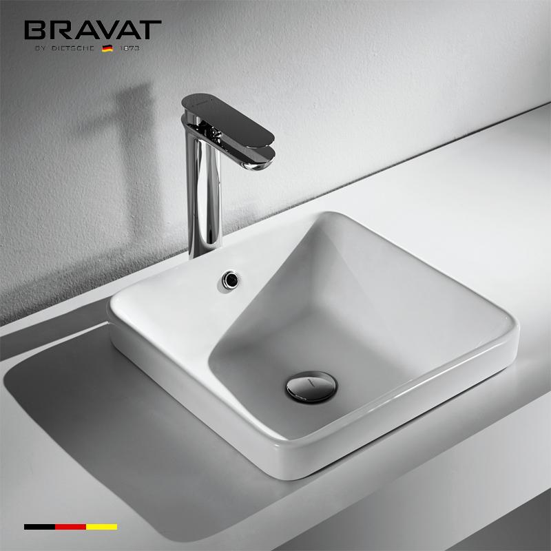 composite bathroom sinks New design Environmental C22213W, View composite  bathroom sinks, Bravat Product Details from Bravat (China) GmbH on