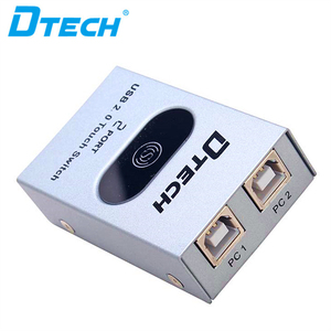 Popular Product 2 port USB2.0 Touch Switch Sharing Device Kvm Dvi Switch