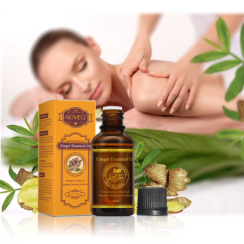 Aliver Brand Skin Care Natural Organic Ginger Oil Renew Skin Cell Body SPA Massage Essential Oil