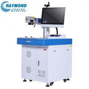 Lowest price metal emblems laser writing machine for metal and plastic logo printing
