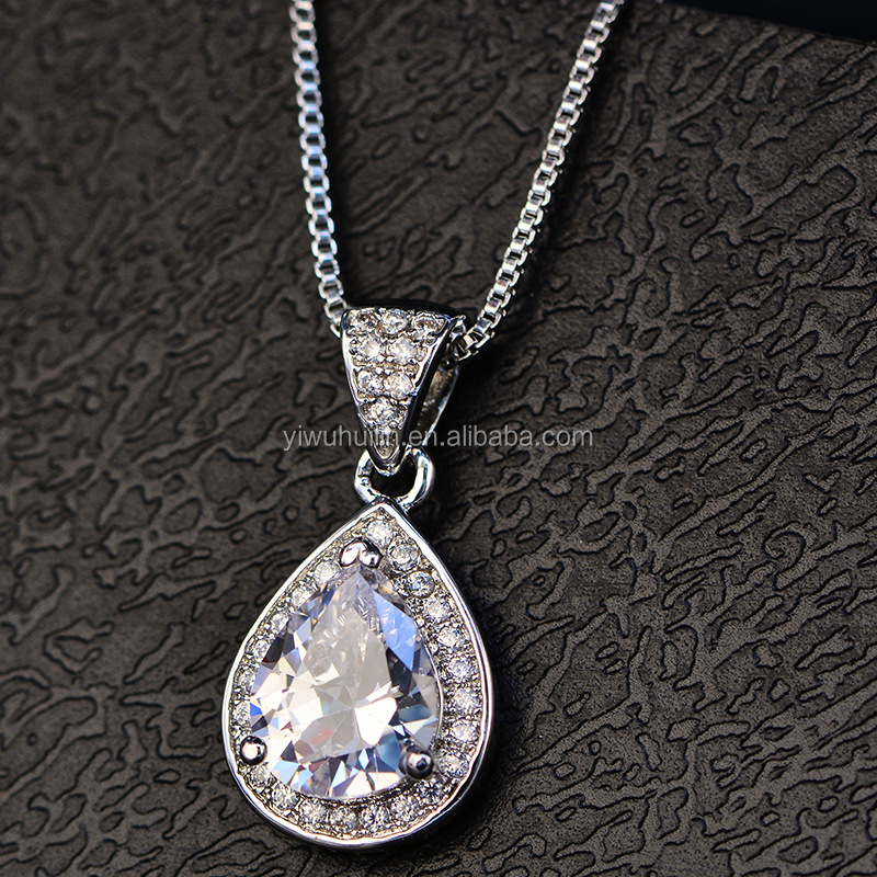 HP070 Huilin cheap Jewelry 18K white gold plated Necklace beautiful gold pendants necklace Women