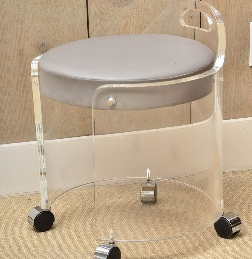 image quarter bamboo bathroom stool acrylic vanity stool acrylic vanity stool suppliers and manufacturers at alibabacom