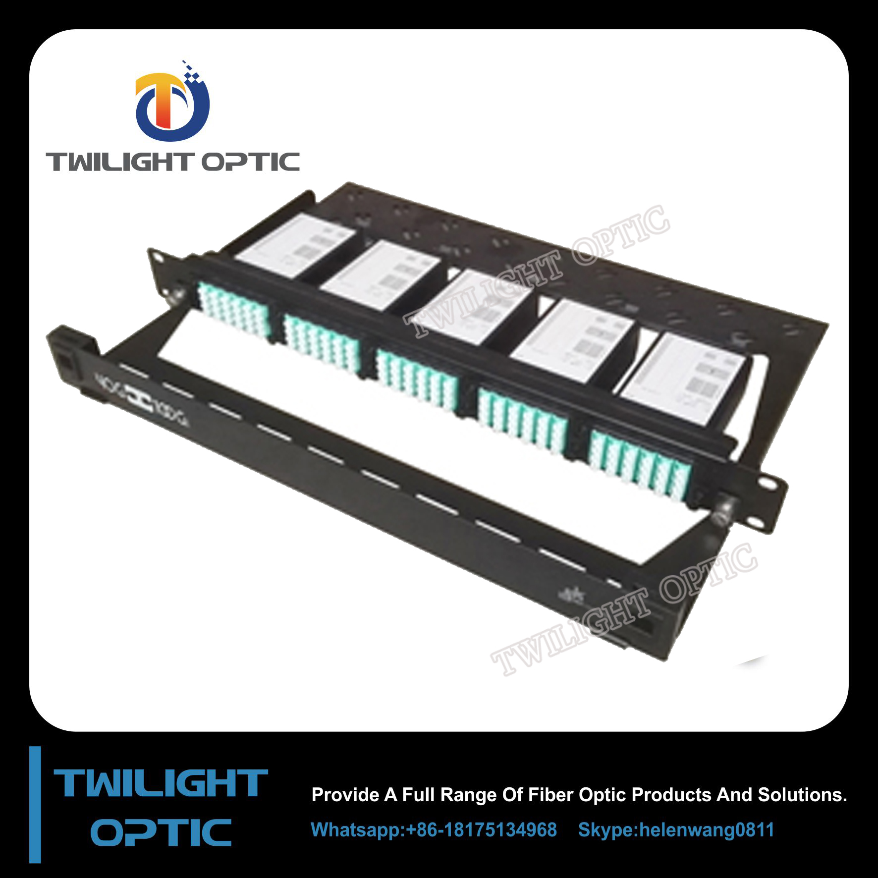 Factory price For data Center MTP/MPO Breakout Fiber Patch Panel
