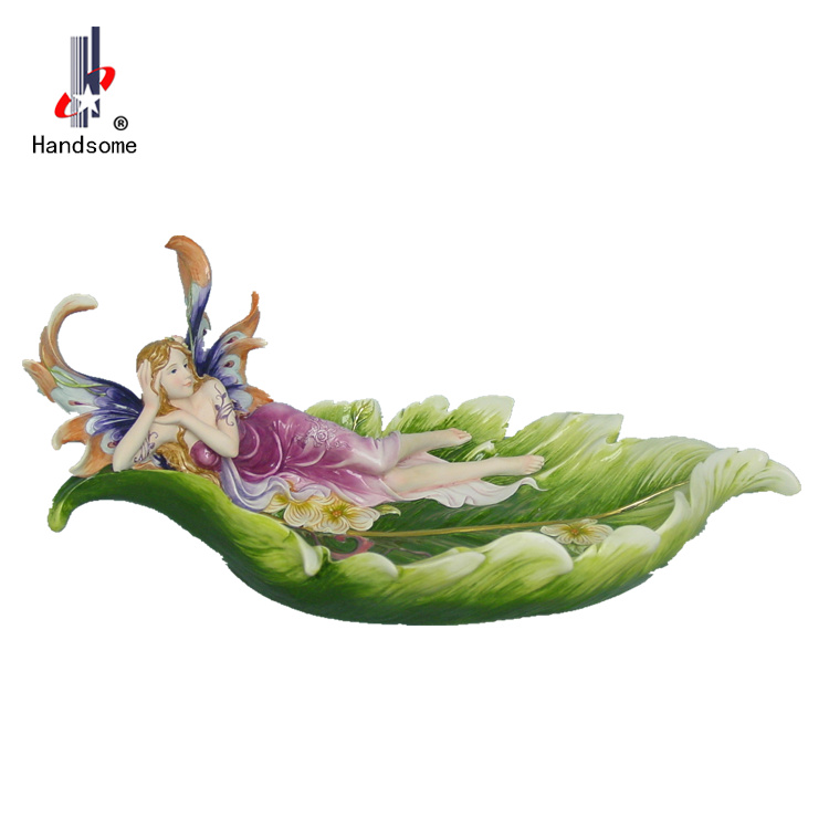 12 Inch Polyresin Flying Fairy Candle Holder