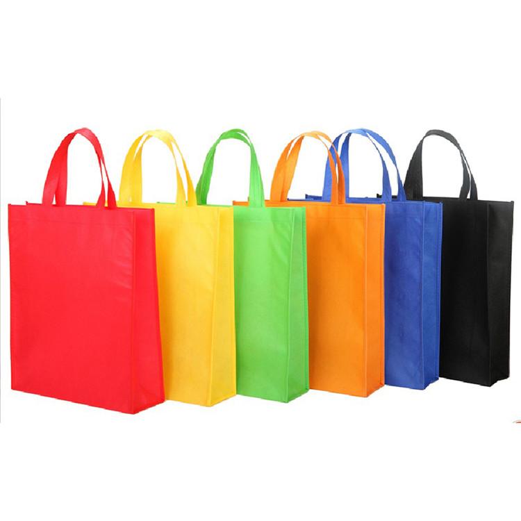 Diferentes cores de reciclagem logotipo personalizado promocional sacola de compras não tecido