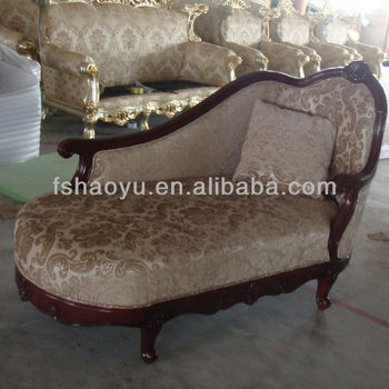 Antique French Chaise Lounge Chair