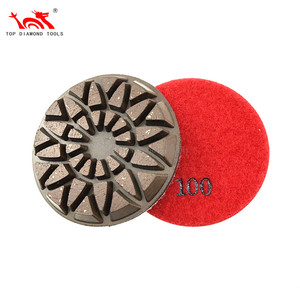 Diameter 3 inch Resin Hybrid Copper Bond Diamond Rigid Polishing Pads For Grinding Concrete Terrazzo Granite Marble Stone Floor