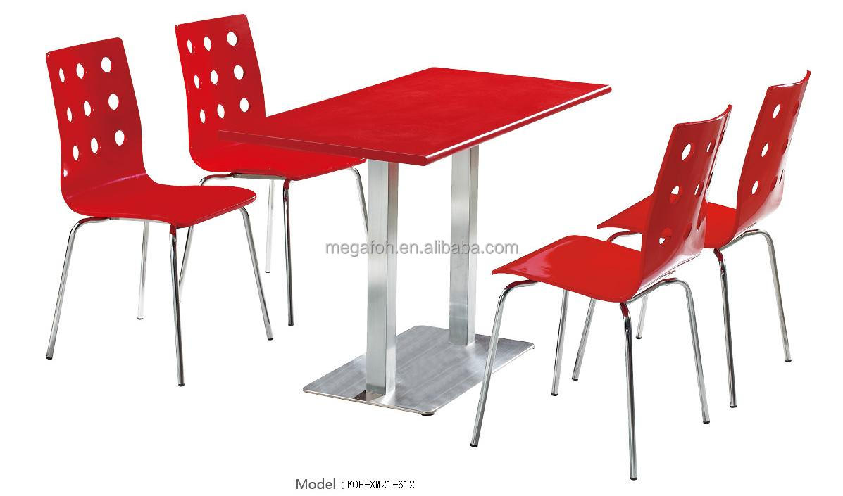 European Style Fast Food Restaurant Dining Table And Chairs Furniture Set Fo