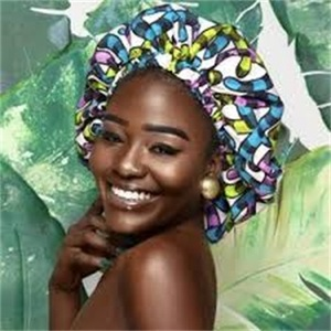 Queency Hot Selling Nigerian Print Satin Lined Bonnet Ankara Wholesale Sleeping Head Tie