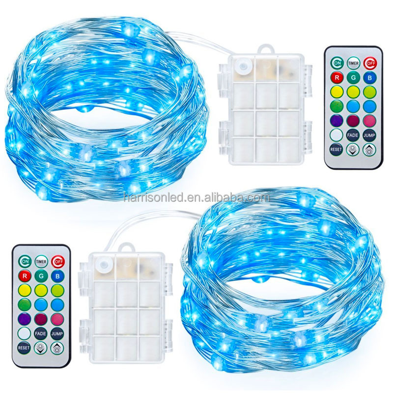 battery operated color changing led Christmas lights