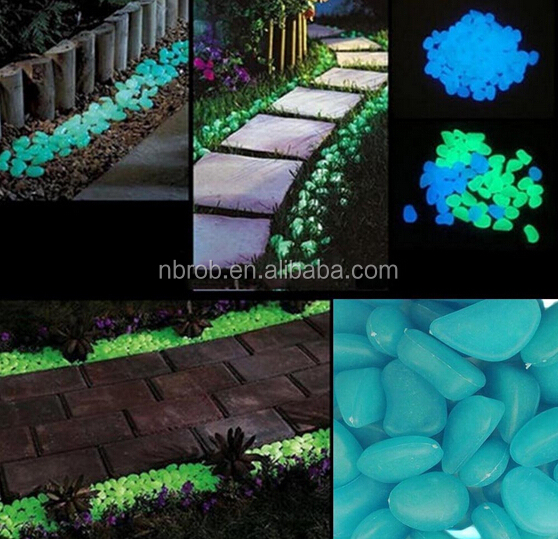 Garden Glow in the Dark Stone for Walkways Yard Tank Decorations