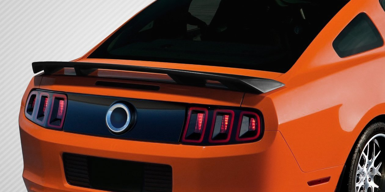 2010-2014 Ford Mustang Carbon Creations Boss Look Wing Spoiler - 1 Piece