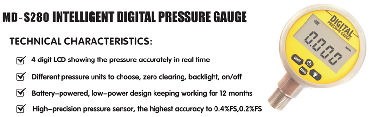 LCD display battery powered digital Pressure Gauge Manometer