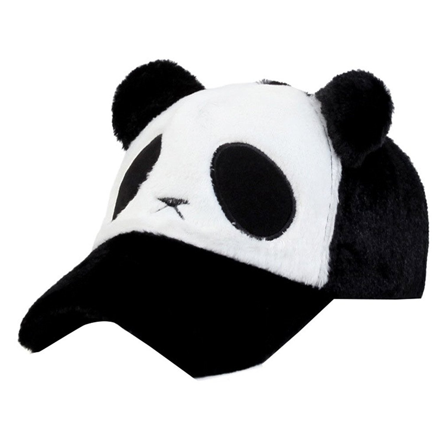 243755763f0552 Get Quotations · FUNY Women Panda Bear with Ears Baseball Hat Cap Winter  Warm Caps