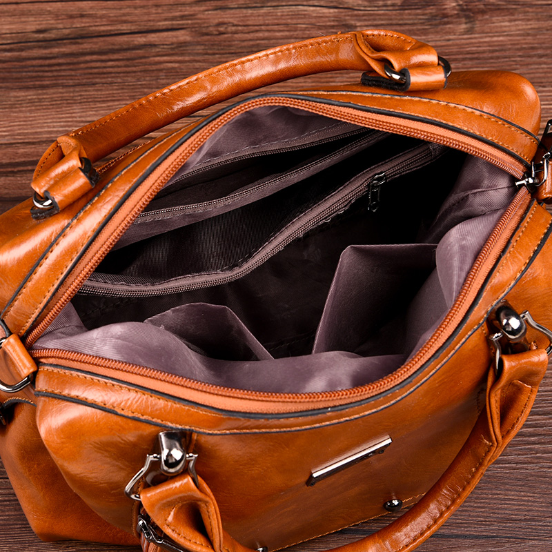 Discount antitheft PU leather ladies leisure bag Women's Shoulder Bags PU Leather Hobo Handbags
