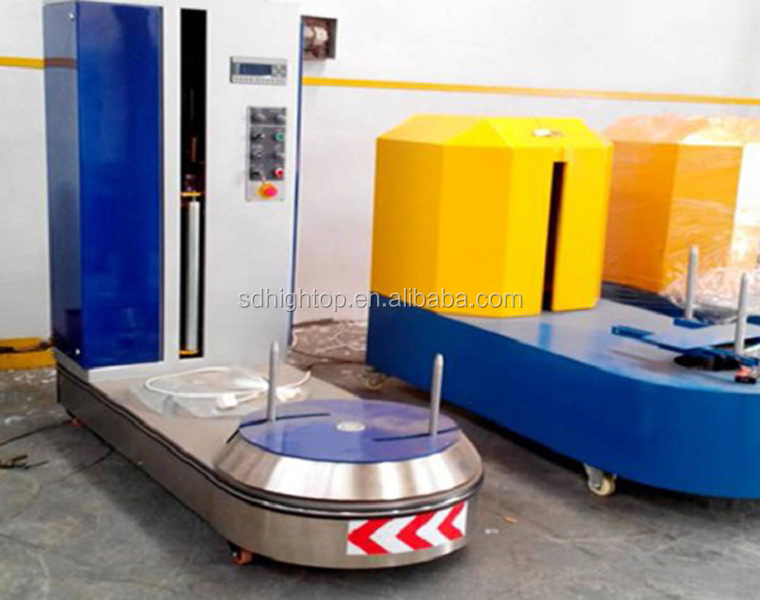 Automatic 50rpm Airport Luggage Wrapping Machine For Sale