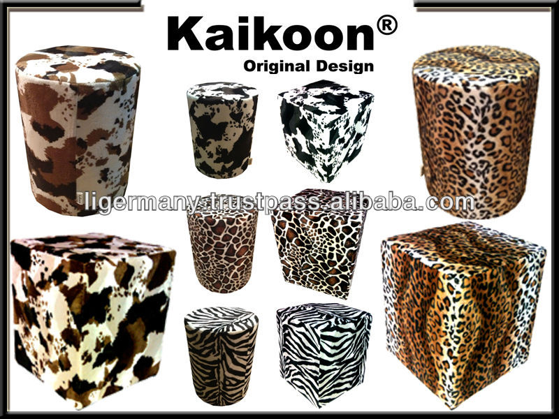 Kubus kruk koeienhuid imitatie bruin wit ottoman stoelen en voetenbankjes product id 166381127 for Kubusgordijnen