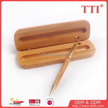 promotion ball pen gift eco friendly wood pen set/wooden pen box