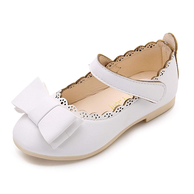 b23be7e9775 CYBLING Girls Cute Bow Toddler Kids Mary Jane Flats Ballet Dress Shoes