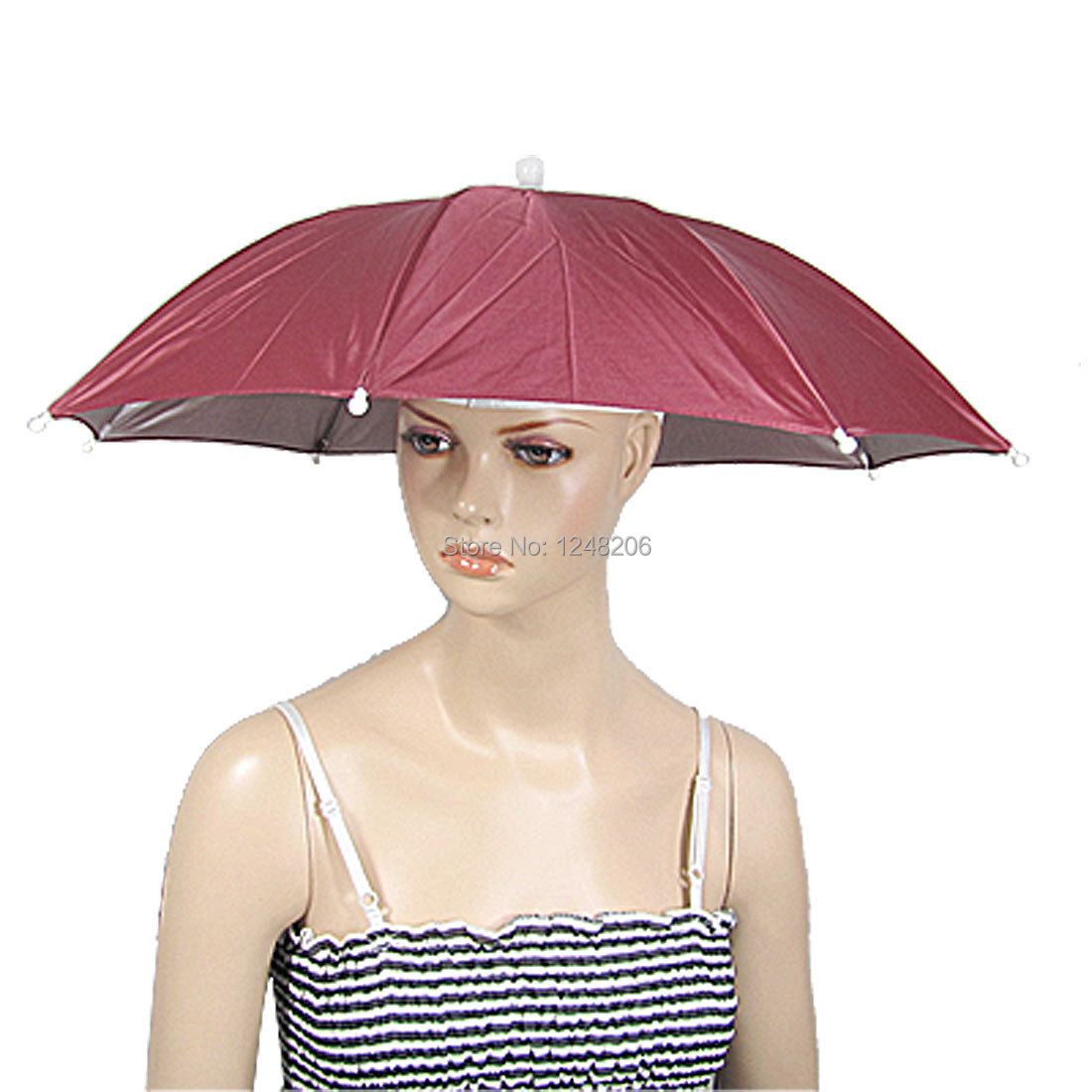 79e935956abd3 Get Quotations · Fishing Sports Sun Rain Umbrella Hat Headwear 25.6