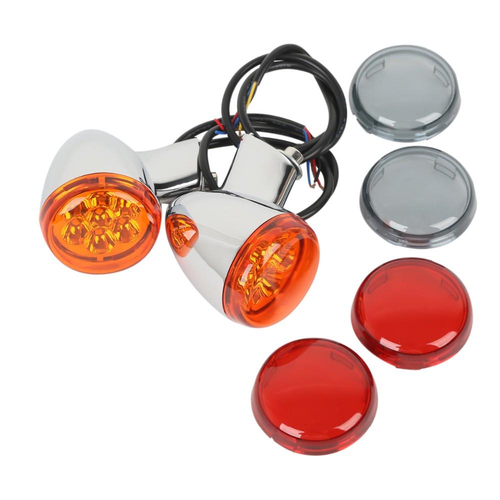 Lentille orange chrom/ée Harley Sportster Clignotant arri/ère pour Harley Davidson XL883 XL1200 Sportster 92-up