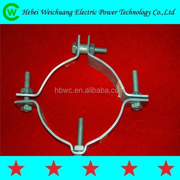 high quality galvanized electric pole clamp/pole band for overhead line fittings