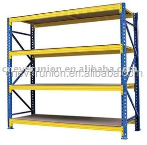 Warehouse storage modular shelving system