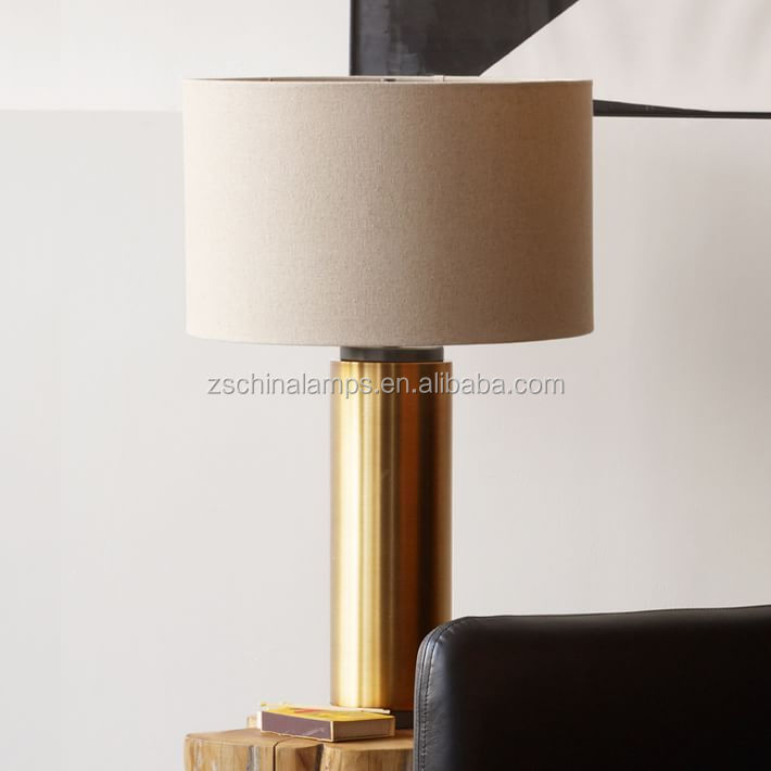 Clear Tapered Glass Table Lamp Wth Grey Pagoda Shade For Bedroom ...