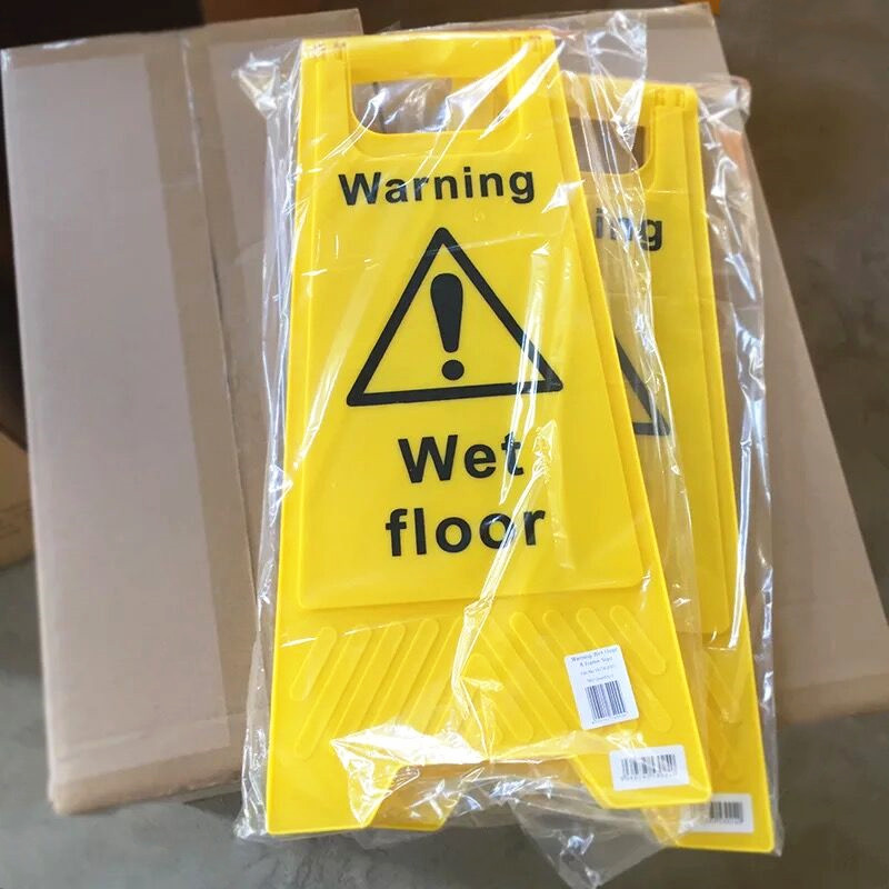 Plastic Wet Floor Safety Warning Signs