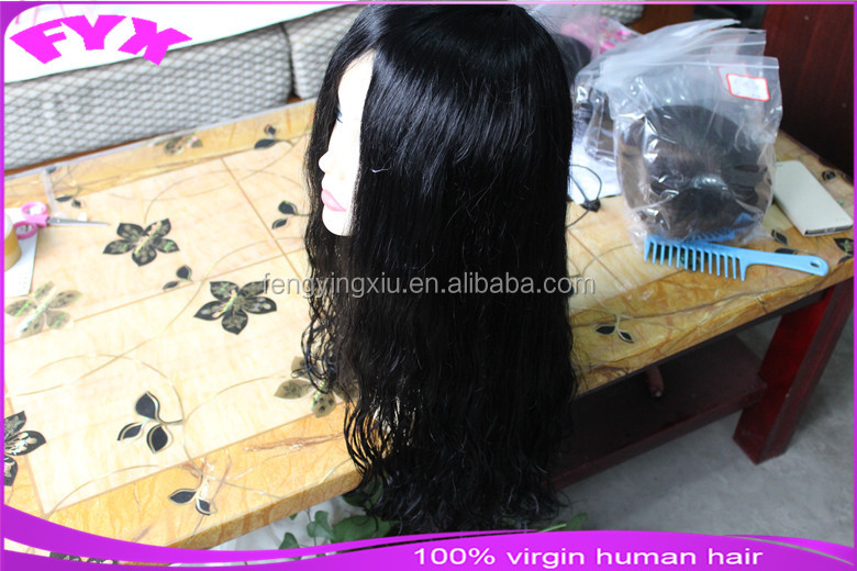 Wholesales factory price human hair wig fine monofilament base 6*6 women toupee