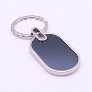 New design Stainless Steel Metal Blank Polished Finished ellipse Shape Sign Keychain