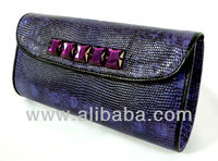 Real Exotic Lizard Skin Leather Women Designer New Fashion Evening Party Clutch Handbag