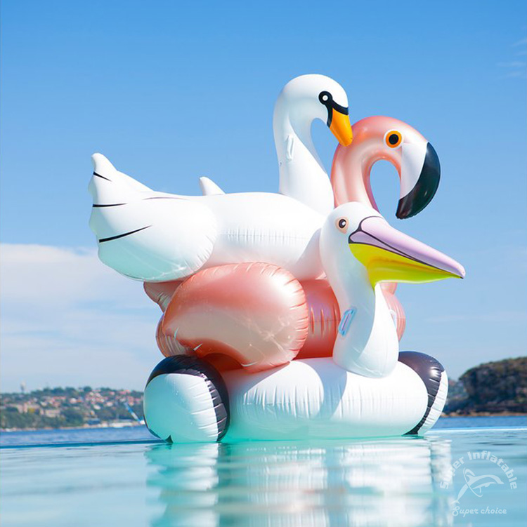 OEM Hot Sale Inflatable Rose Gold Flamingo Pool Float Toys Manufacturers