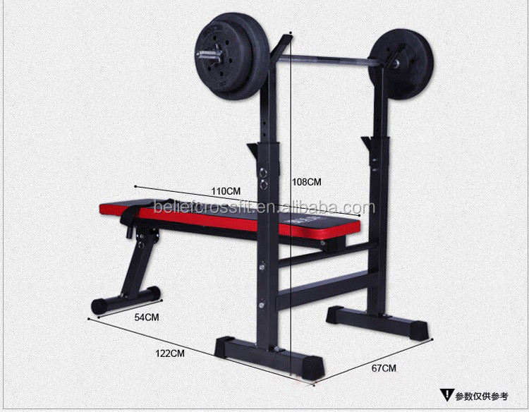 Foldable Adjustable Fitness Multifunctional Weight Lifting Bench
