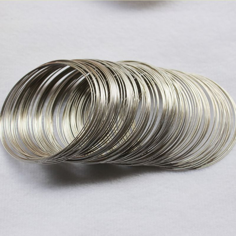 Top Saleing Gold Silver Colors Stainless Steel Memory Wire Loops Cord for Making Bracelets Jewelry Craft