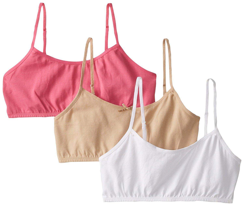 0b51d2419edbe Get Quotations · Maidenform Girl Big Girls  Three-Pack Multicolor Bras