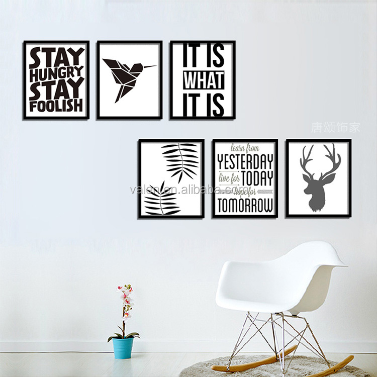 2019 Cheap Modern Canvas Painting Set Adhesive Pictures for Walls