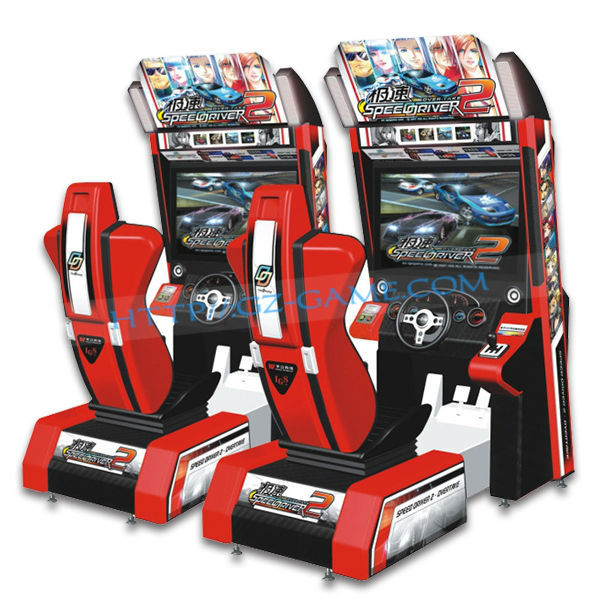 Coin Operated Racing Game Machine Initial Arcade F1