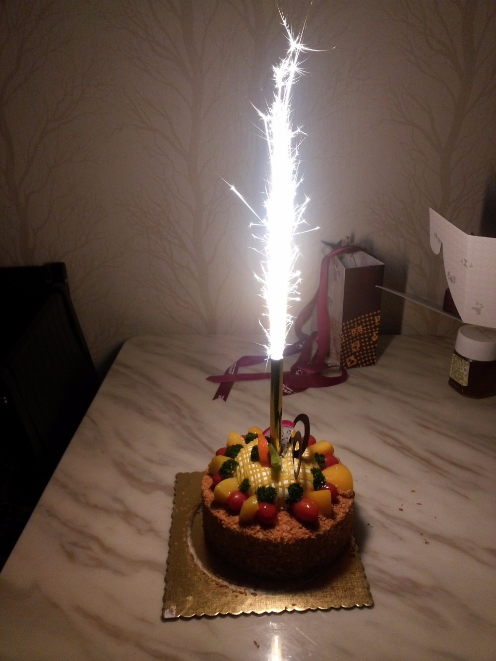 Wholesale Cold Flame Pyro 18cm Sparkler Birthday Cake Candle Fireworks For Party