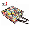 Durable tote zipper pp woven bag promotional shopping bag