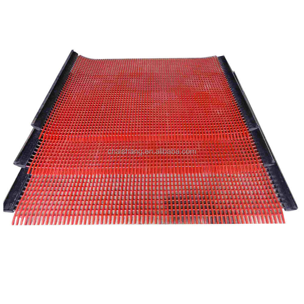 mining abrasive resistant vibrating screen mesh/sieve plate/screen panel
