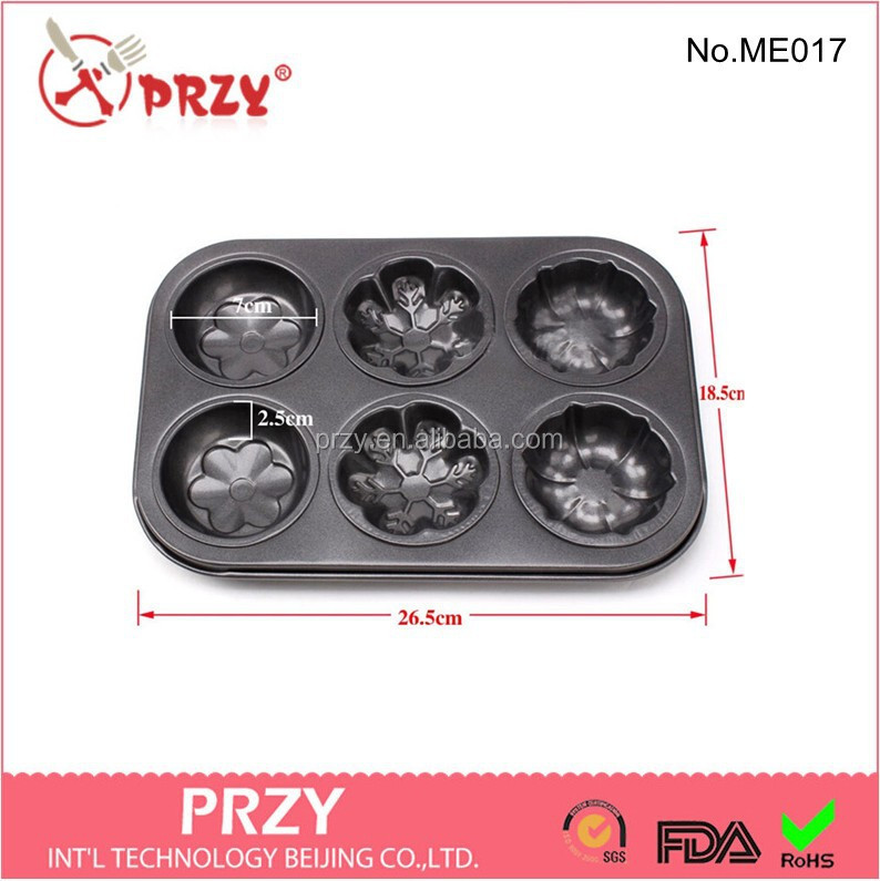Cake Pan Mold 6 Cup metal Design,PRZY