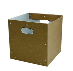 Custom Collapsible Paper Corrugated Cardboard Carton Packaging Storage Boxes Bins