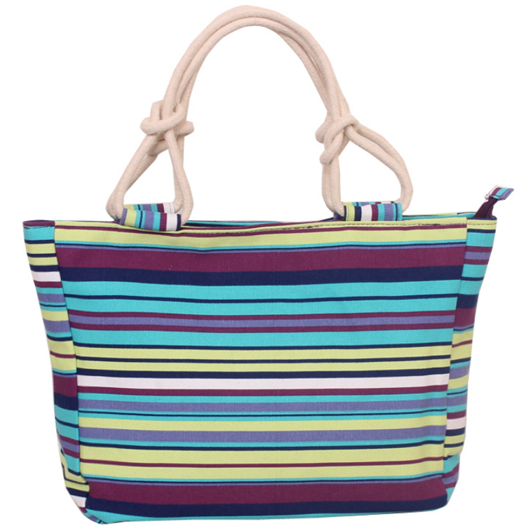 Osgoodway2 Canvas Striped Women Handbag Tote Bag Custom Print Canvas Bags Women Handbags
