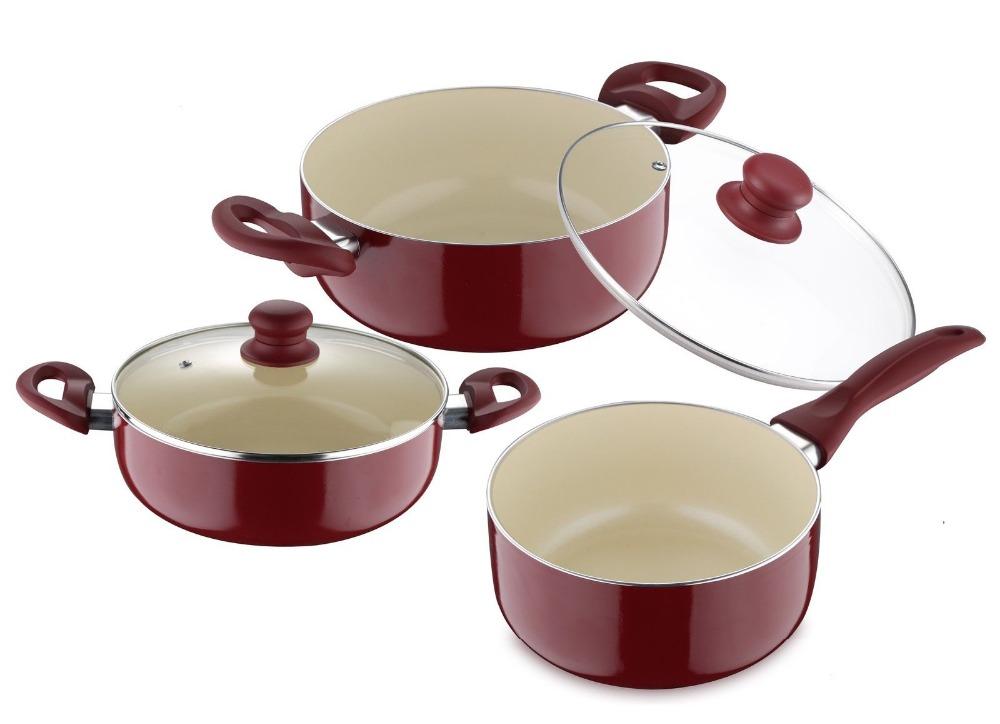 5 unids presionado aluminio utensilios de cocina de for Utensilios de cocina de ceramica