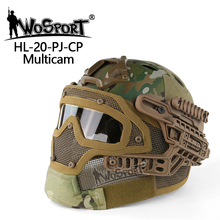 New ABS material tactical camo fast mask full face bike helmet with goggle