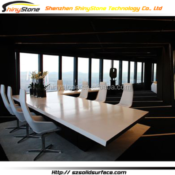Superb Flush Surface Solid Surface Granite Conference Table