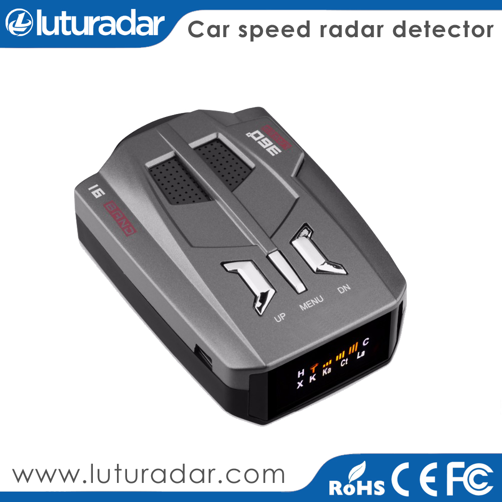 New GPS with Radar Detector Police Camera Detector V9 Radar Speed Detection Device+Car Alarm System